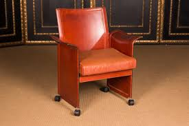high quality designer chair by matteo grassi korium saddle leather