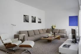 ... White Lounge Chairs For Living Room Design With Lounge Chair And  Ottoman Aniline Leather White Also White Gloss Wood Tv Stand And Cream Shag  Wool Area ...
