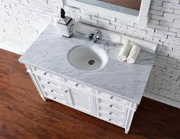 white bathroom vanity without top. Contemporary 48 Inch Bathroom Vanity White Finish No Top Without E