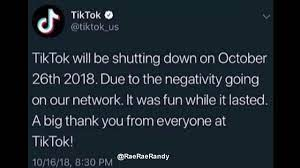 Tik Tok Is Shutting Down 2020 😥 *NOT ...
