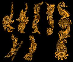 Free Indická Henna Tetování Vzory Vektorové Zdarma Clipart And