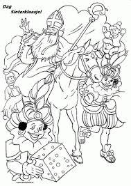 Sinterklaas Kleurplaten Sint En Piet Zwarte Piet En Sinterklaas