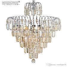 2018 luxury crystal chandelier light living room lamp res de cristal hanging crystal lighting for villa home decoration ball chandelier wire chandelier