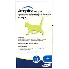 Atopica For Cats 100 Mg Ml 17 Ml