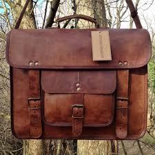 men s genuine vintage leather messenger laptop briefcase satchel women bag brown