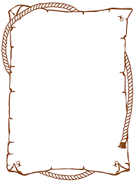 cowboy rope border clipart