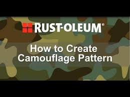 how to spray paint a camouflage pattern