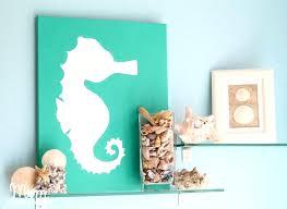 diy beach bathroom wall decor lisaasmithcom diy beach bathroom wall decor diy art beachy seahorse canvas