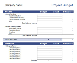 Budget Proposal Template Excel 10 Excel Budget Templates