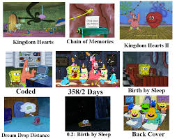 Kingdom Hearts Character Chart Kingdom Hearts Spongebob Chart Bikinibottomtwitter