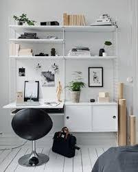 stringhylla arbetsskiva | my bedroom - narrowed | Monochrome bedroom ...