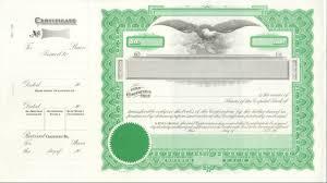 Stock Certificate Template Blank Stock Certificate Template