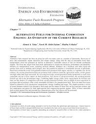 alternative fuels for internal combustion engines an overview of  alternative fuels for internal combustion engines an overview of the current research pdf available