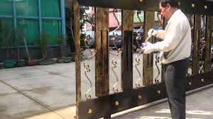 Wrought Iron Color 2015 02 17 Wrought Iron Gate Painting Youtube