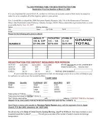 Coupon Template Enchanting Reunion Registration On Family Reunions And Form Template Word
