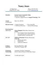 Surgical Technologist Resume