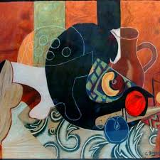 still life pitchers by george braque woodlands art original red kettle art and collectibles