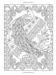 Small Picture Creative Haven Peacock Designs Coloring Book Creative Haven