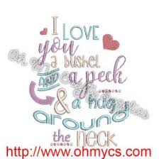 Bushel And A Peck Embroidery Design