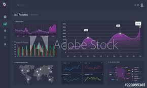 Web Design Charts Graphs Dashboard Infographic Template With Statistics Graphs And
