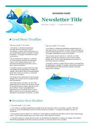 Examples Of Company Newsletters Company Newsletter Free Company Newsletter Templates