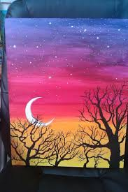 10 unique easy acrylic painting ideas for beginners easy acrylic painting ideas trees google search canvas