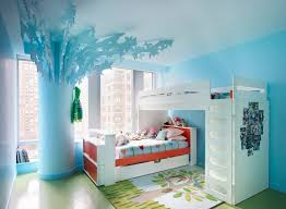 kids bedroom for teenage girls.  Bedroom Gorgeous Bunk Bed With Desk Underneath In Kids Eclectic Room With  Two Beds Next To Bedroom Alongside Teenage Girl Colors And Decorating  In For Girls D