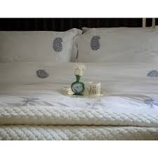 embroidered paisley duvet cover by kinche