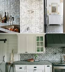 my newest obsession is painted cement or ceramic tile in kitchens bathrooms hallways