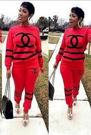 chanel tracksuit. sweater: trendy cc jogger suit, chanel t-shirt, logo, black tracksuit, fashion, dress, style - wheretoget tracksuit 7