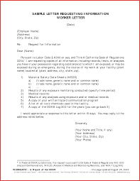 Request For Information Template Best Of A Letter Requesting Information Job Latter