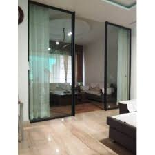 black office sliding glass door