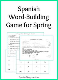 Vocab Building Worksheets Spring Vocabulary Word Building Game With Spring Vocabulary