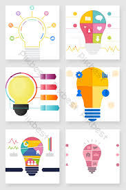 Creative Light Bulb Data Color Chart Ppt Element