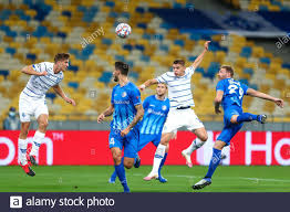 KYIV, UKRAINE - SEPTEMBER 29: Illia Zabarnyi of Dynamo Kiev, Tim  Kleindienst of AA Gent, Vitali Mykolenko of Dynamo Kiev, Laurent Depoitre  of AA Gent Stock Photo - Alamy