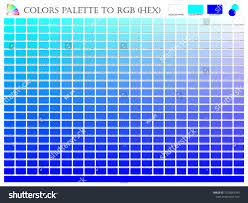 Shades Of Color Blue Chart Color Palette Mixer 3 Color Blue Royalty Free Stock Image