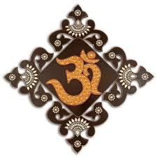 om symbol wooden wall hanging painting