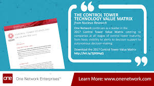 control tower value matrix by nucleus research control tower value matrix 2017 from nucleus research