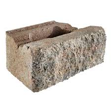 rockwall small 4 in x 11 75 in x 6 75 in palomino concrete retaining wall block 144 pieces 46 5 sq ft pallet