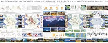 Баку Международный конкурс дипломных проектов Институт   траектории трансграничного туристического маршрута и элементов его архитектурной среды Золотое ожерелье