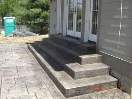 Stamped concrete patio with stairs Extravagant St Louis Concrete Stamped Decorative Concrete St Louis Concrete
