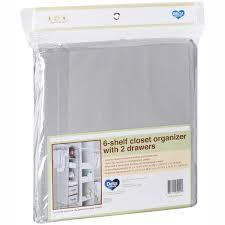 delta children 6 shelf hanging storage unit with 2 drawers grey com
