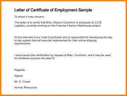 Awol Letter Sample Sample Employment Certification Employment