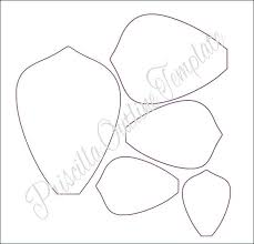 Flower Templates For Paper Flowers Easy Large Paper Flowers Giant Flower Templates Instructions