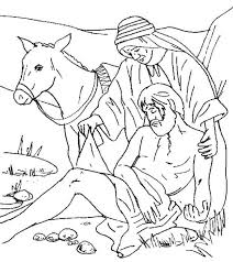 Small Picture Traveller Being Helped by Good Samaritan Coloring Page NetArt