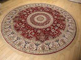6 ft round rug. Image Is Loading Persian-Silk-Rugs-6-ft-Round-Rugs-Red- 6 Ft Round Rug