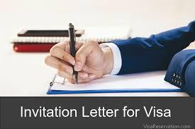 letter of invitation for visa