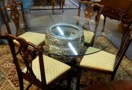 inspiring glass table base diy s also roundcream jar glass table coffee and diy round table base ideas furniture round glass table round glass table top jpg