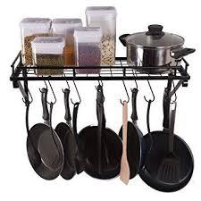 zpoka kitchen racks wall pot pan rack