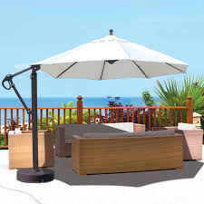 galtech aluminum 1139 cantilever offset patio umbrella with